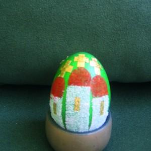 Украса на боядисани яйца