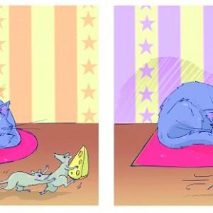 Котка и мишки