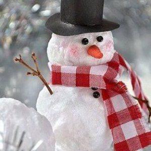 Снежен човек от памук