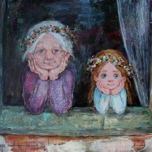 Баба Паша и Настя